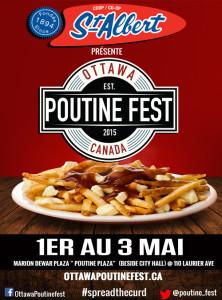 Poster Ottawa Poutine Fest - rouge - français